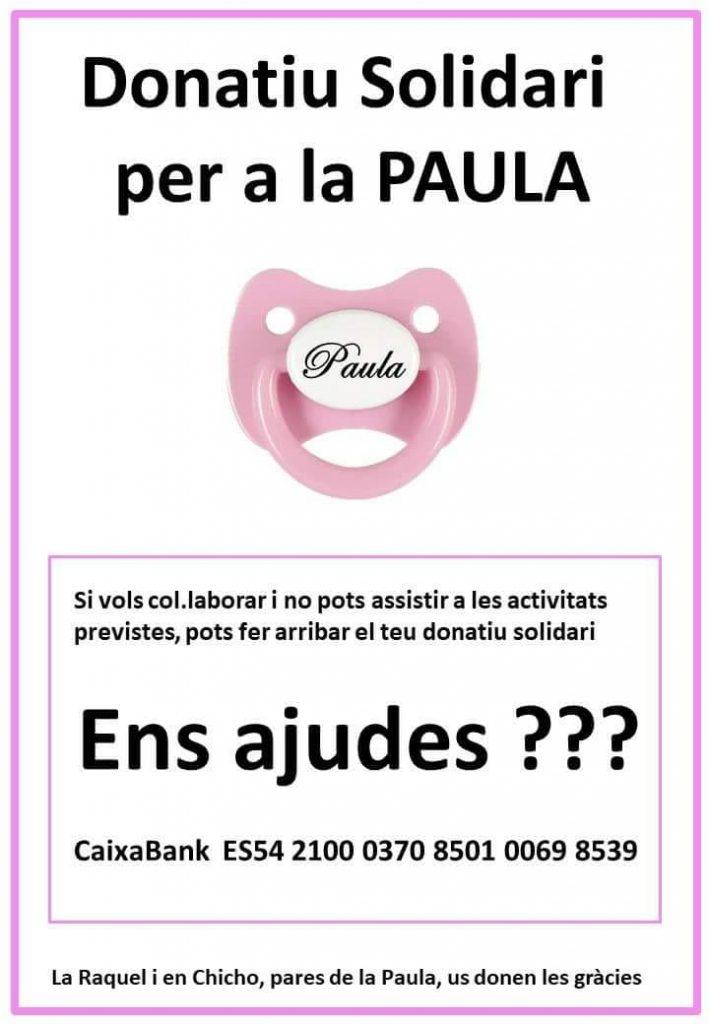 Donatiu solidari per la Paula