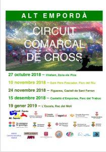 Calendari Circuit Comarcal Cross 2018-2019