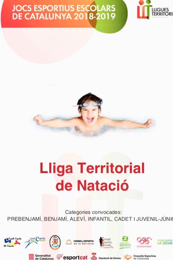 Lliga Territorial Natació 2018/2019