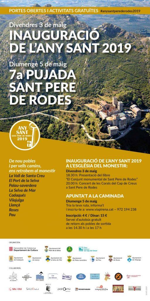 Cartell 7a pujada Sant Pere de Rodes 2019
