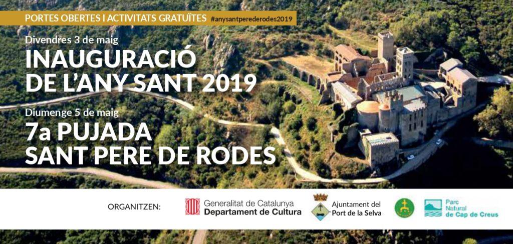 Flyer 7a pujada Sant Pere de Rodes 2019
