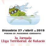 Cartell 3a jornada lliga territorial natació 2019