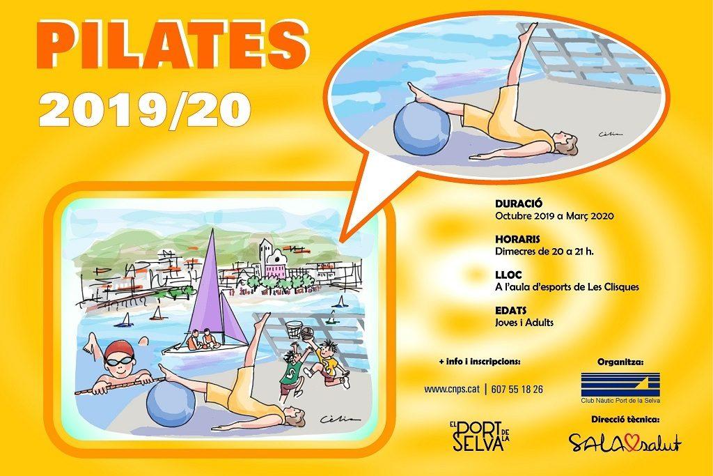 Cartell Pilates 2019/2020 al Port de la Selva