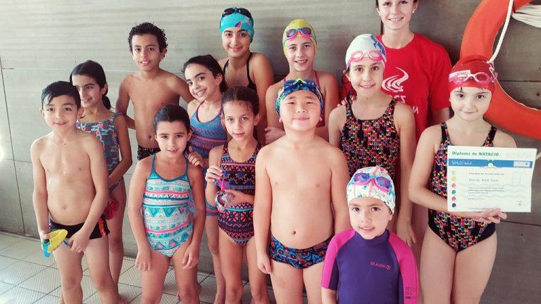 Lliurament diplomes natació dissabtes