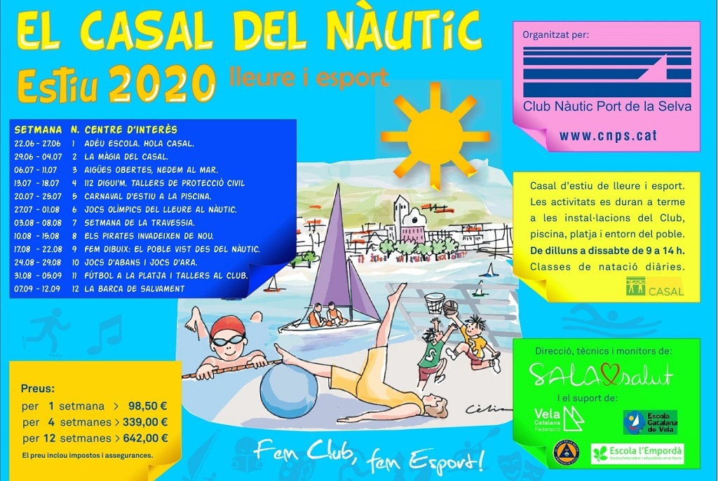Cartell del casal del CNPS estiu 2020