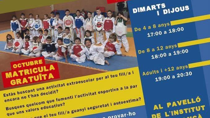 Curs de taekwondo Ki-Hop a Llançà