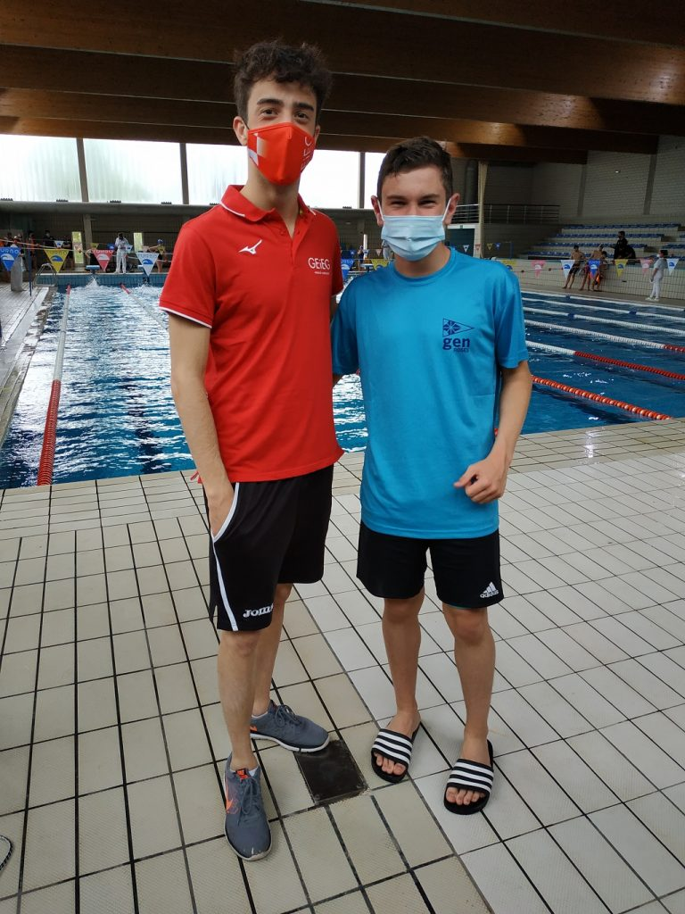 Gerard Roura i Agustí Planas, escola de natació del Club Nàutic Port de la Selva